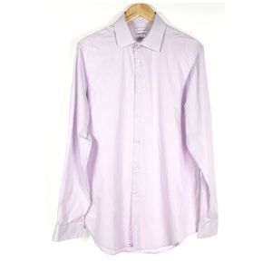 CALVIN Klein Slim Fit Purple Check Dress Shirt